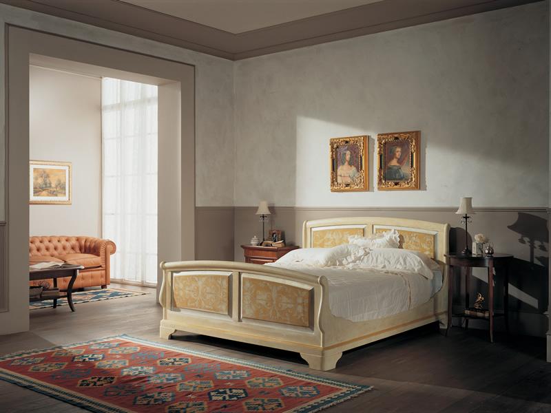 Camera da letto collezione Cantile Ligneo in legno avorio