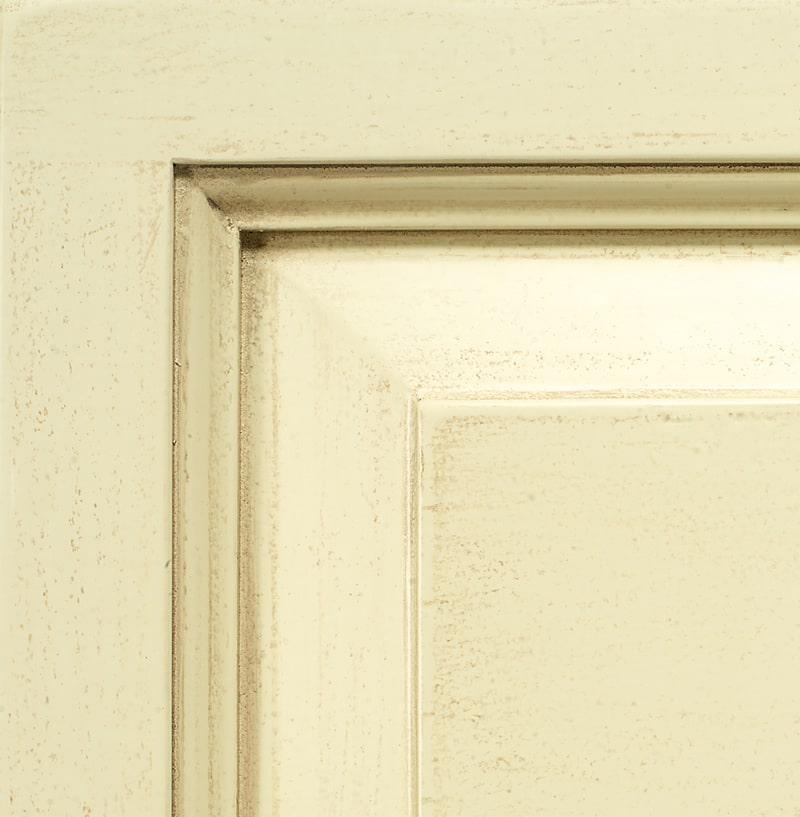 Extra patina ivory lacquered finish