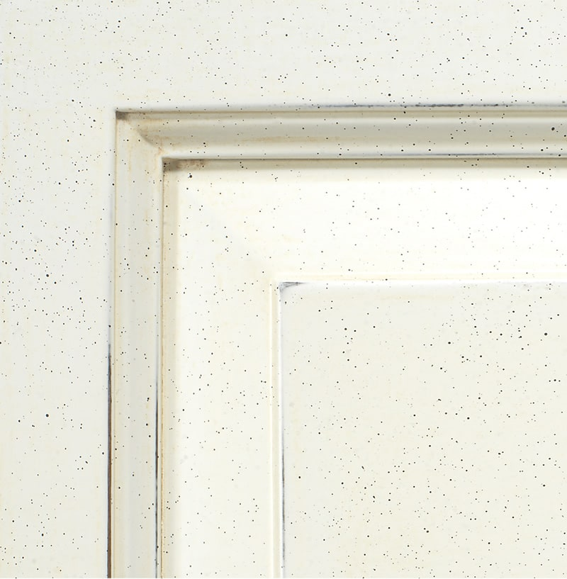 Antiqued white lacquered finish