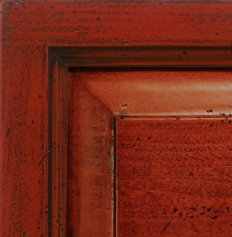 Red lacquered finish antiqued '700
