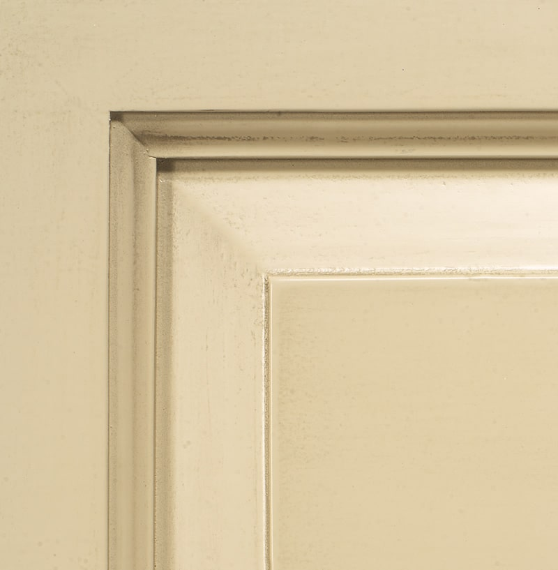 Antiqued grey lacquered finish