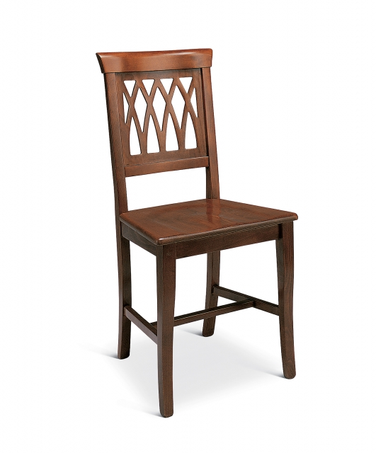 """""""Grata"""" chair with wooden seat"""