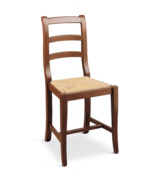 """""""Chiocciola"""" chair with rattan seat"""