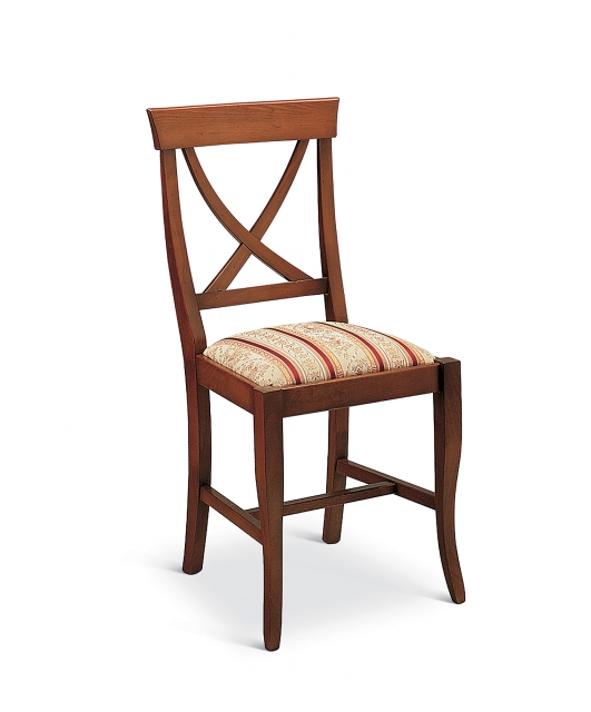 """""""X"""" chair with fabric seat"""