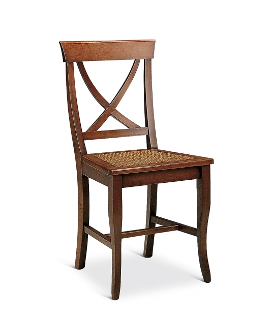 """""""X"""" chair with Vienna rattan seat"""