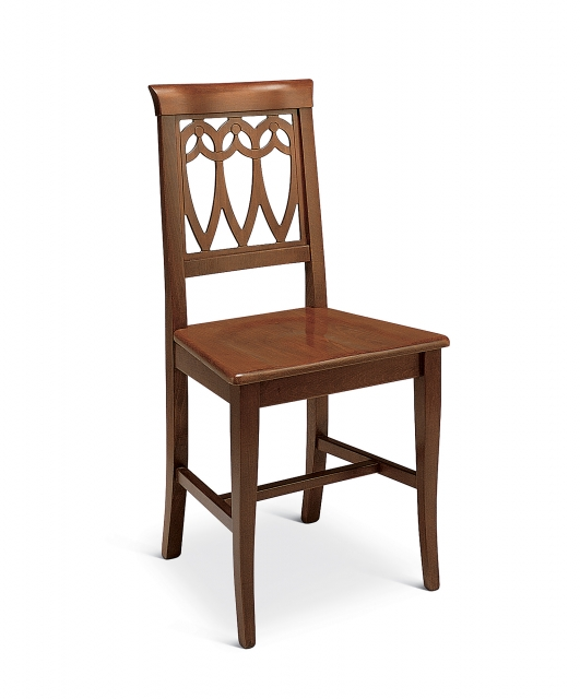 """""""Tulips"""" chair with wooden seat"""