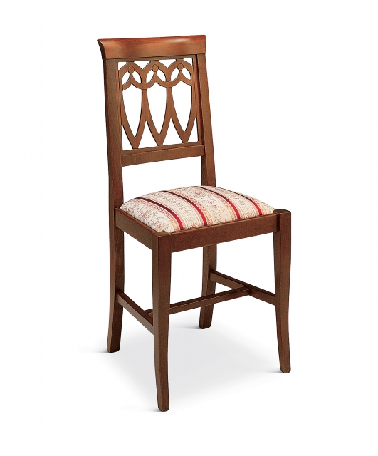 """""""Tulips"""" chair with fabric seat"""