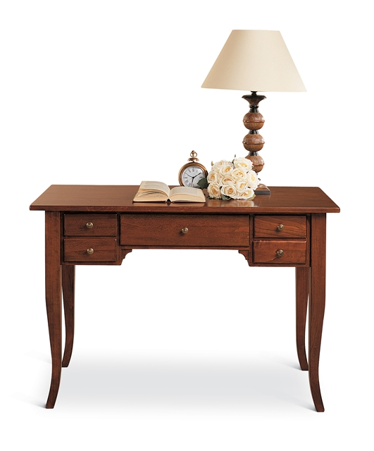 5-drawer writing desk with saber legs