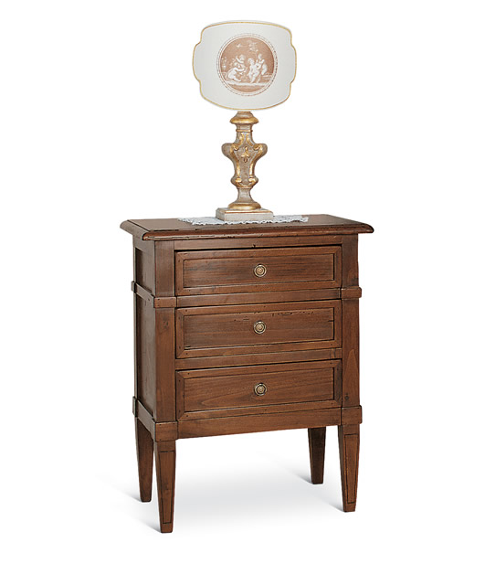 """Bedside table """"Luigi XVI"""" with 3 drawers"""