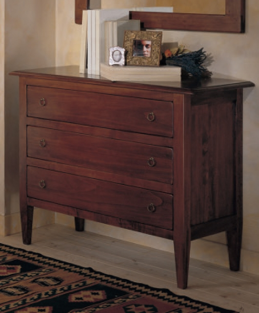 Chest of drawers with 3 drawers, tapered legs