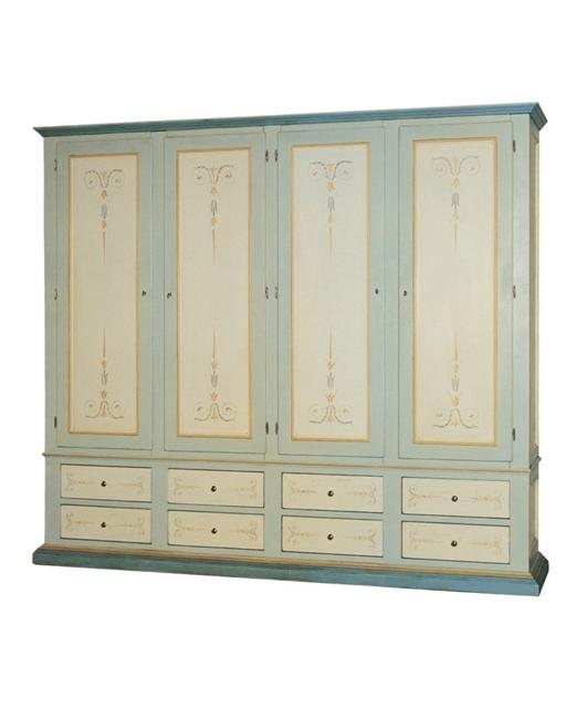 4-door wardrobe, 8 drawers