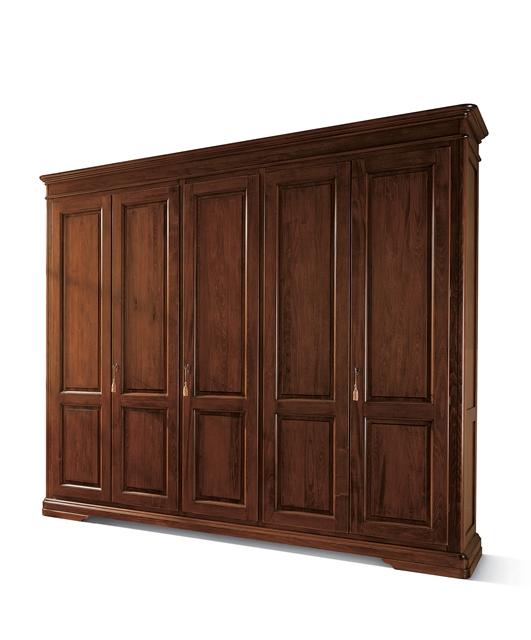 5-door wardrobe, rounded