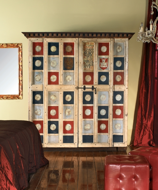 """Cabinet decorated with """"Coats of Arms"""""""