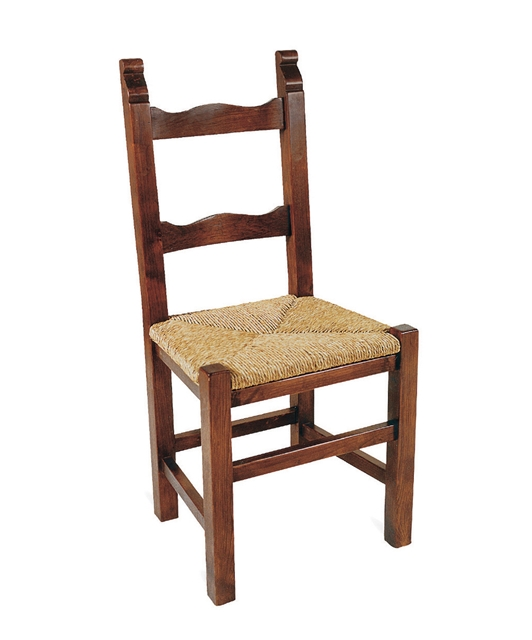 Chair with two shaped transoms