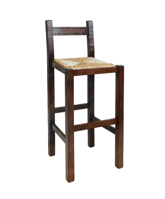 High stool with back