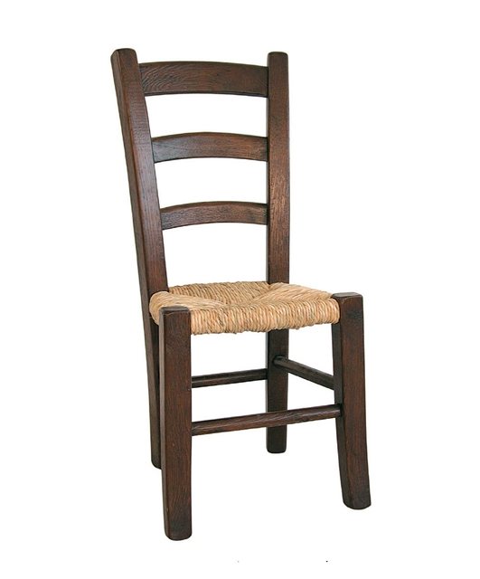 Heavy chair with three plain transoms