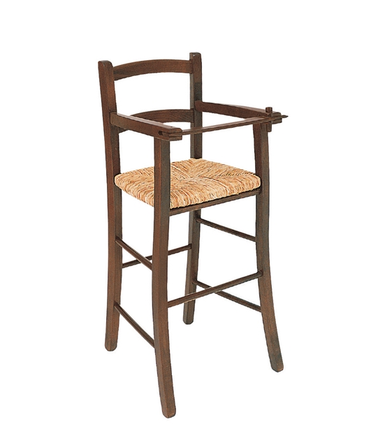 High chair with armrests