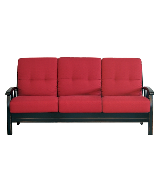 3-seater sofa with curved armrests