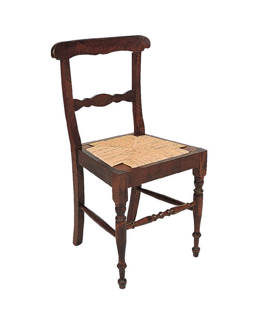 19th century style chair with two transoms