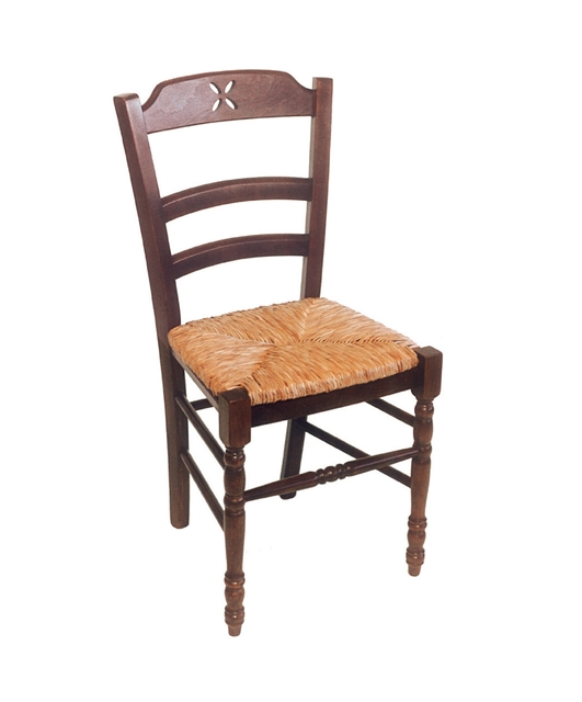 19th century style chair with three transoms