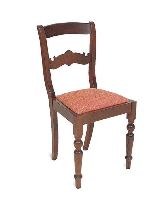 19th century style chair with shaped transoms