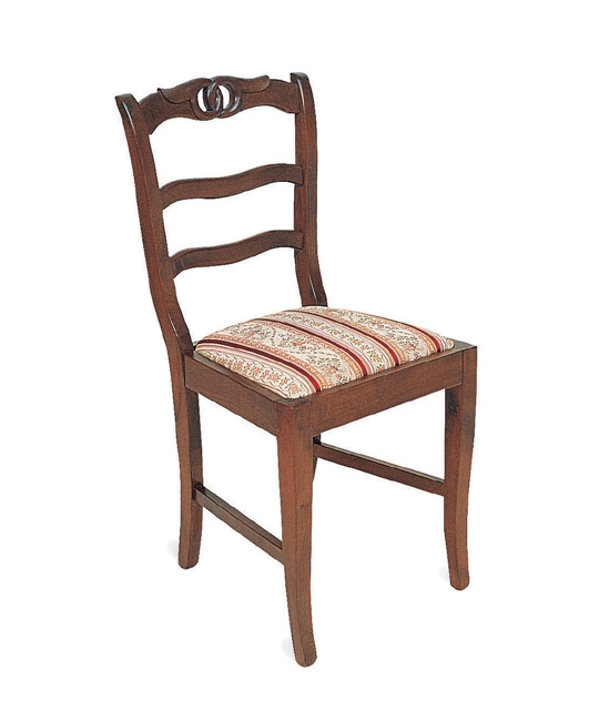 18th century style chair with three transoms