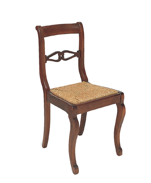 18th century style chair with two transoms