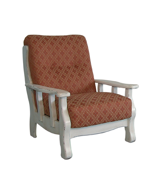 Armchair with upholstered cushions
