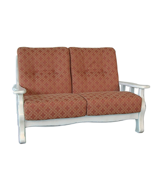 2-seater sofa with upholstered cushions