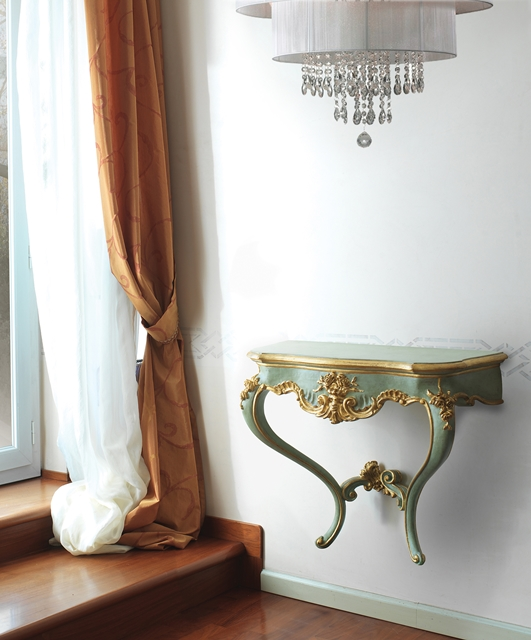 Carved wall console