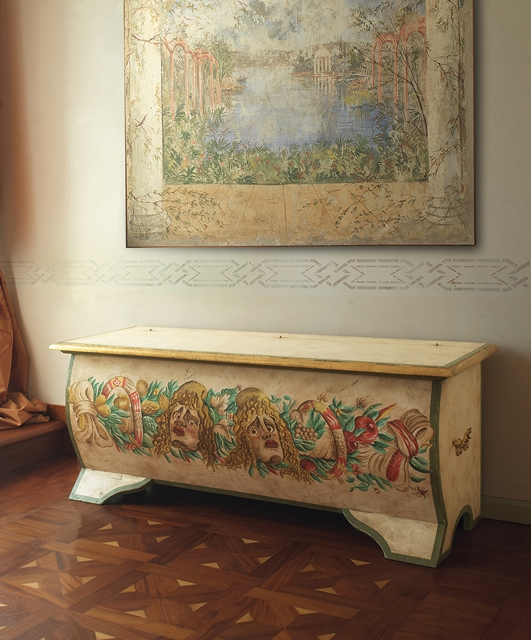 Shaped front storage chest