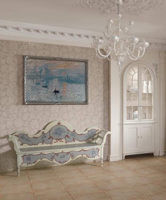 "Bench with ""Fiori & Nastri"" decorations"