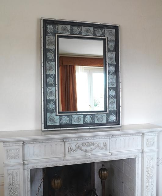 Corrugated square mirror