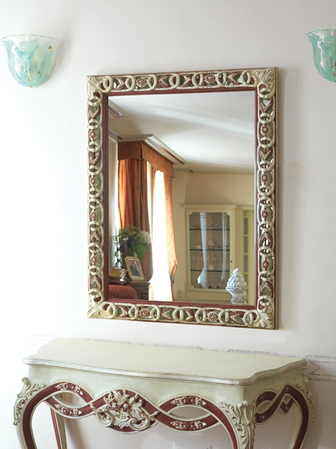 Hand carved mirror
