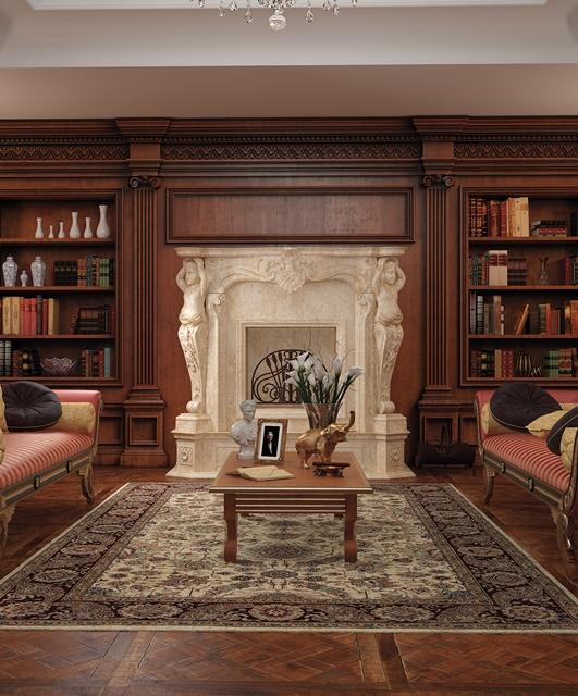Boiserie Whitehall bookcase