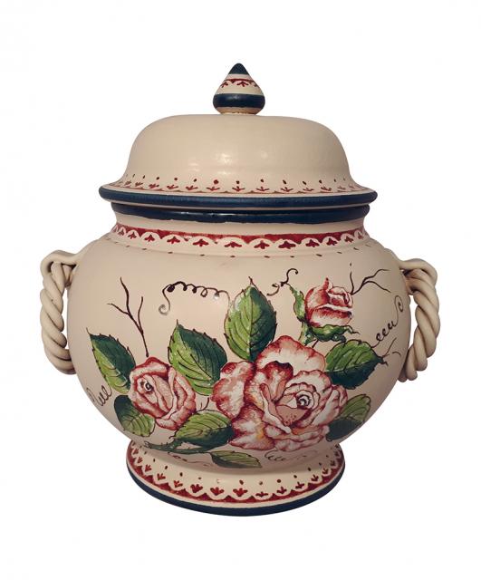 Rose cookie jar