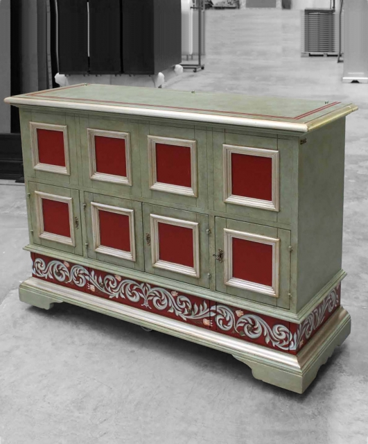 Customized sideboard with opening top