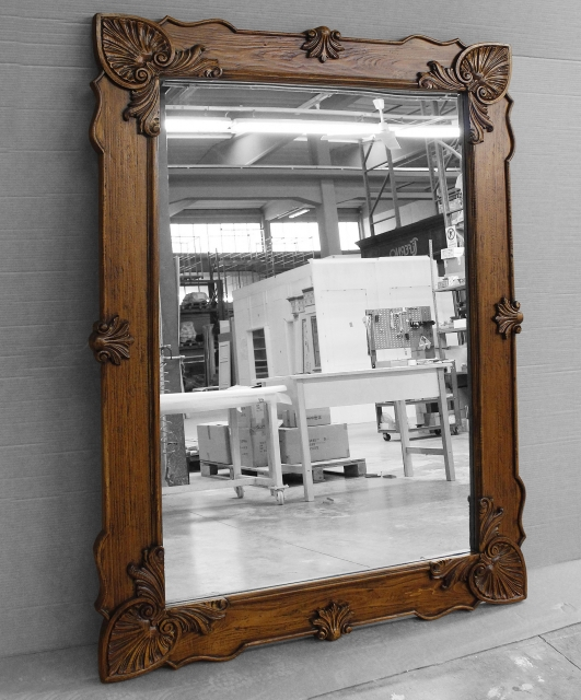 Customized carved mirror