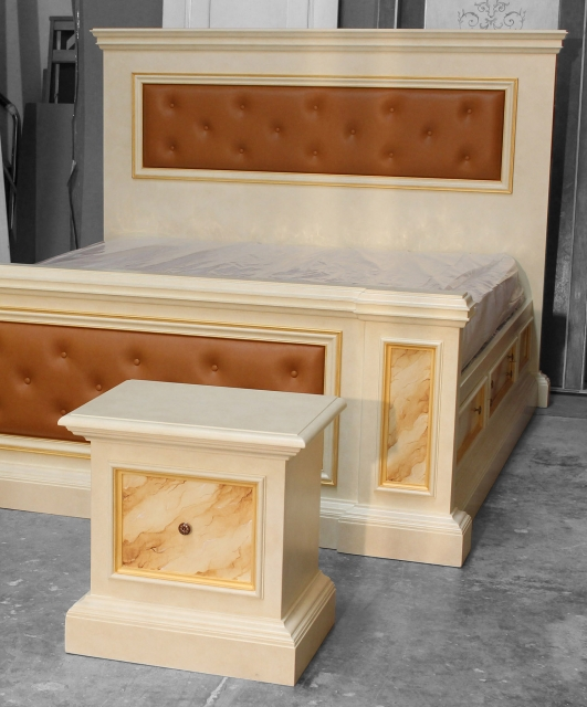 Bedside tables and double bed