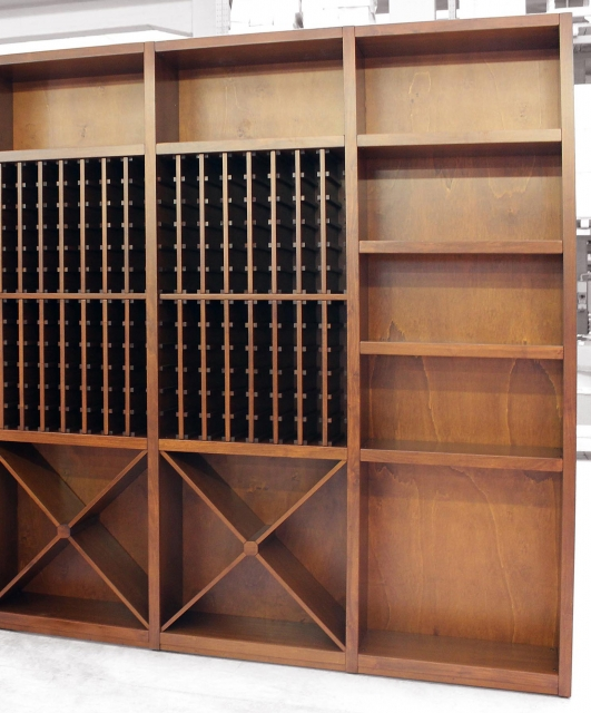 "Modular wall composition ""Porta Vini"""