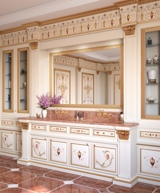 Osterley boiserie decorated by hand