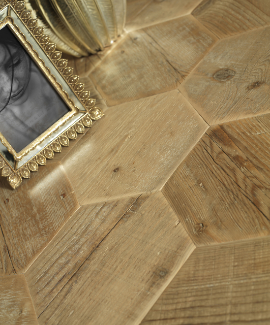 Old fir from masons scaffolding planks, barrel shape edges